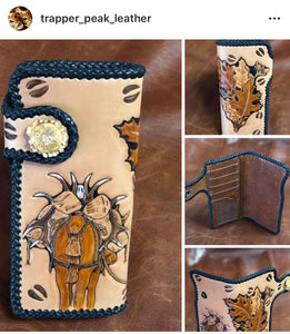 """Pack'n Elk"" Long Wallet"