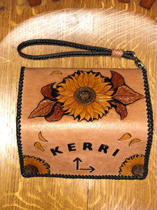 Sunflower Clutch Purse/Wallet