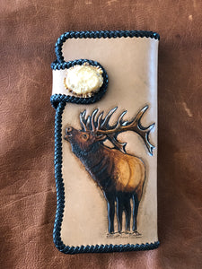 Bugling Bull Long Wallet w/snap