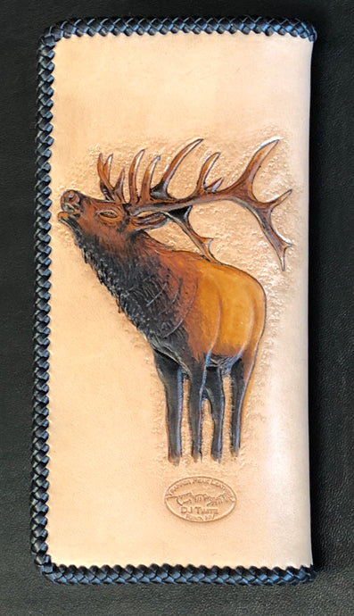 Bugling Bull Long Wallet w/outs snap