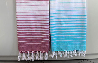 Striped Turkish Bath Towel