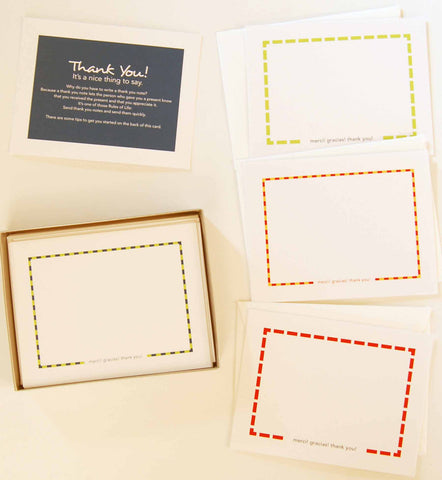 Bold Dashes Thank You Note Cards