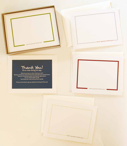 Bold Dots & Stripes Thank You Note Cards