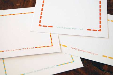 Bright Dashes Thank You Note Cards