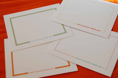 Bright Dots & Stripes Thank You Note Cards