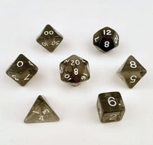 Load image into Gallery viewer, 7 piece Fantasy Translucent Smoke Dice
