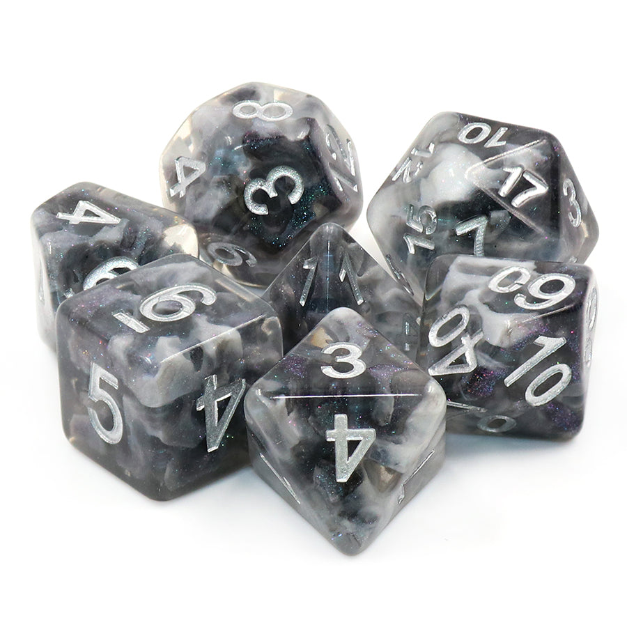 Snowy Crystal Dice Set