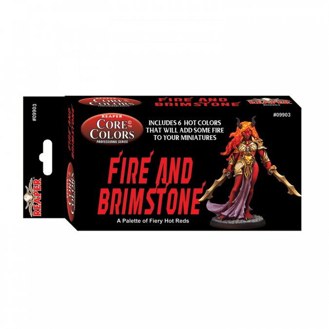 Reaper: Fire and Brimstone: Hot Reds Fast Palette (6 colors)