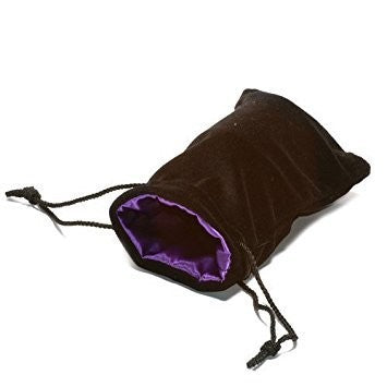 Black Velvet Dice Bag: Purple Satin Lining (5