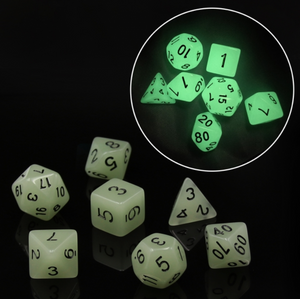 HD Dice Off-White Glow In The Dark Dice