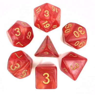 HD Dice Red Pearl Dice with Gold Font