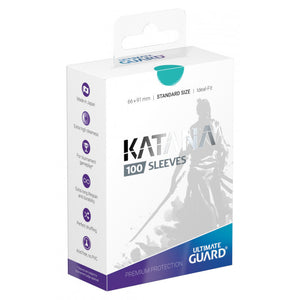 Ultimate Guard Katana Standard Size Turquoise Sleeves (100)