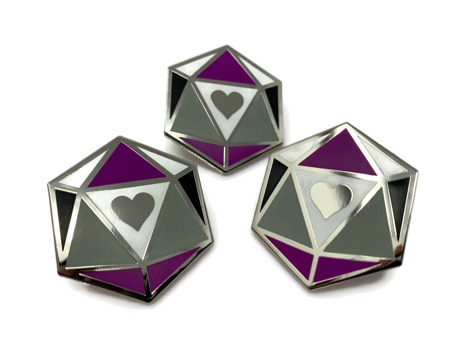 HeartBeat Dice: Asexual Pride Pin