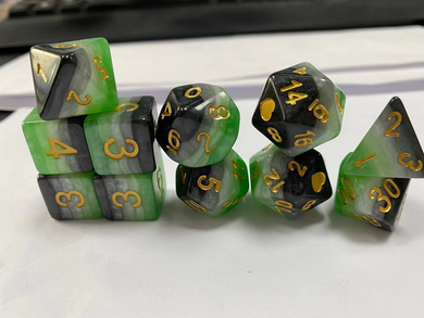 HeartBeat Dice: Aromantic Pride Set