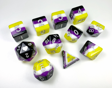 HeartBeat Dice: NonBinary Vibrant Pride Set