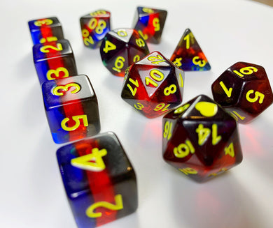 HeartBeat Dice: Polyamory Translucent Pride Set