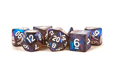 MDG Polyhedral Acrylic Dice Set 16mm - Stardust Galaxy