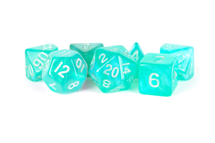 MDG: Stardust Turquoise (Teal) 16mm Poly Dice Set