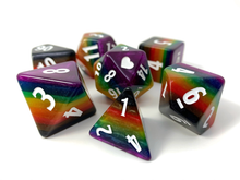 Load image into Gallery viewer, HeartBeat Dice: Colossal Philly Rainbow Pride Set