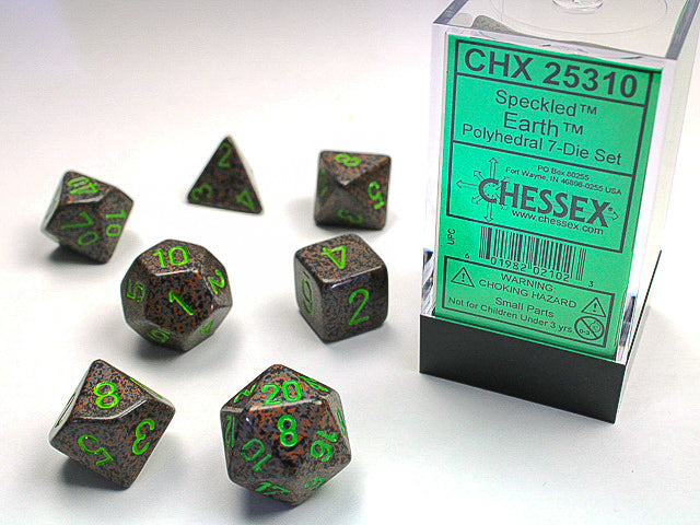 CHX25310: Earth Poly 7 Dice Set