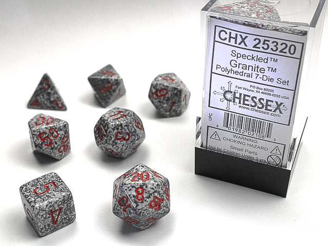 CHX25320: Granite Speckled Polyhedral 7-dice