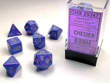 Load image into Gallery viewer, CHX25347: Silver Tetra Speckled Polyhedral 7-Die Set