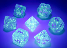 Load image into Gallery viewer, CHX27586 Luminary Borealis Polyhedral Sky Blue/white 7-Die Set