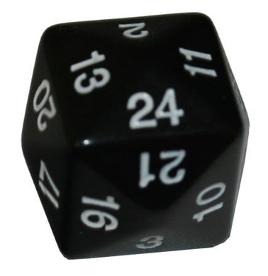 Single D24 black w/white numbers