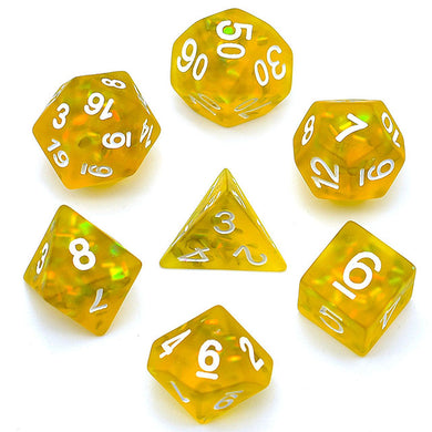 Udixi: Yellow Frosted Mermaid Dice