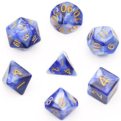 Udixi: Blue-white Blend Dice