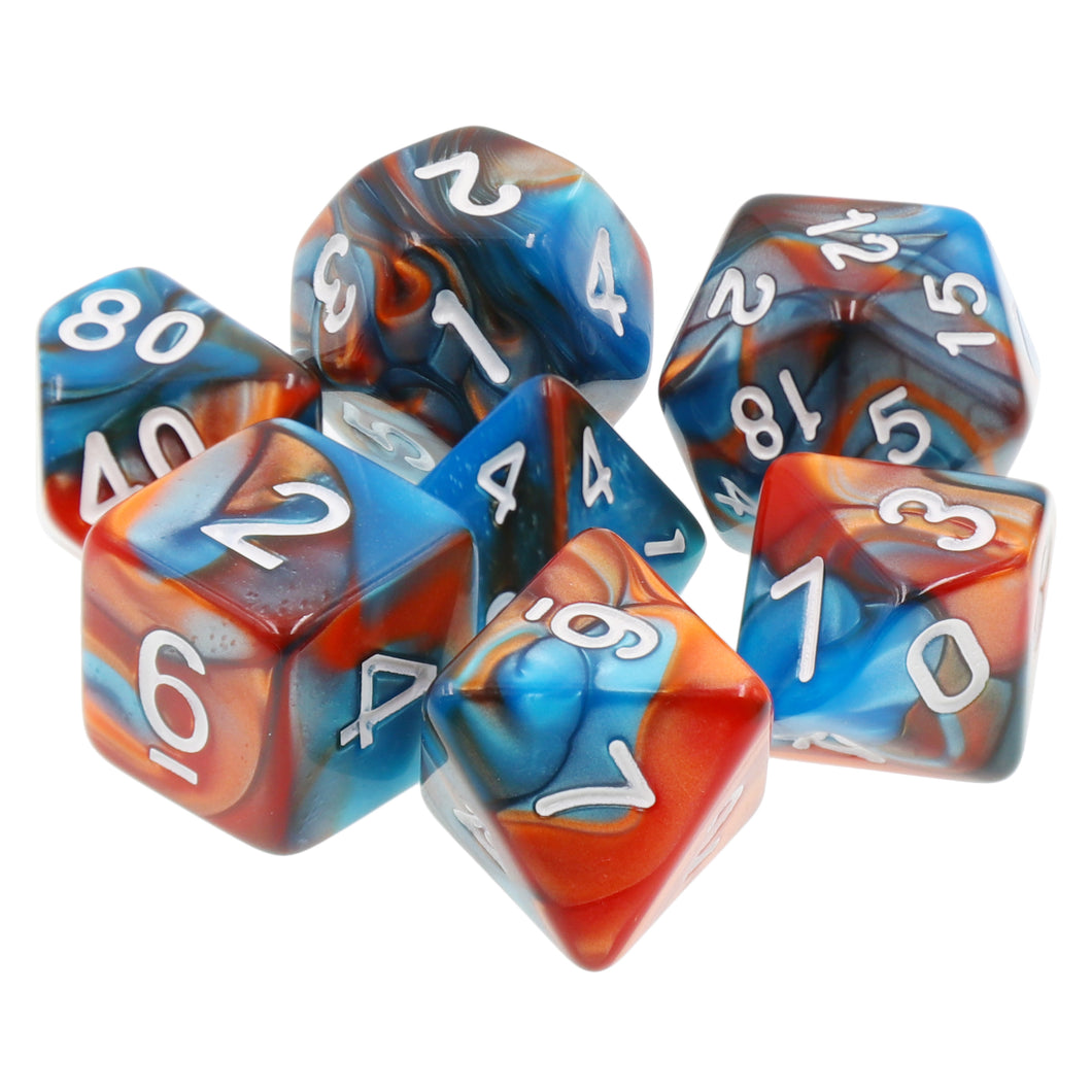 Udixi: Blue-Gold Blend Dice