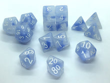 Load image into Gallery viewer, Jade Siren's Song w/White (15 Dice Set)