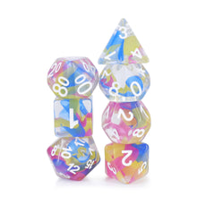 Load image into Gallery viewer, Evil's Spell Ribbon Dice Set