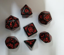 Load image into Gallery viewer, Dragons of the Red Moon Dice Set