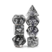 Load image into Gallery viewer, Snowy Crystal Dice Set