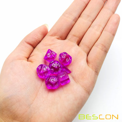 Bescon Dice: Purple Mini Dice Set