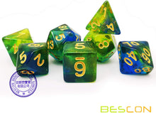 Load image into Gallery viewer, Azure Stone New Moonstone Dice Set