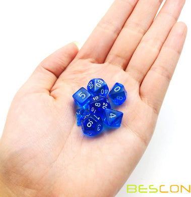 Bescon Dice: Blue Mini Dice Set