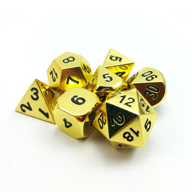 Bescon Dice: Brass Metal Polyhedral Set