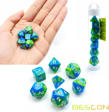 Bescon Dice: Aquamarine Gemini Mini Dice Set