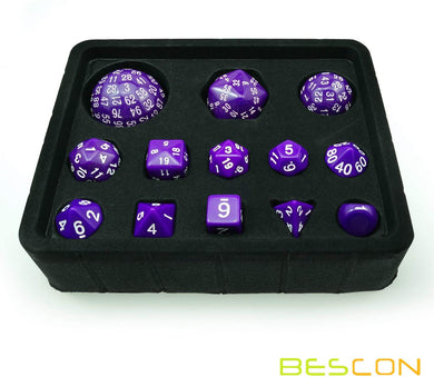 Bescon Dice: Purple D3-D100 Dice Set