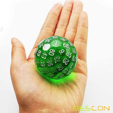 Bescon Dice: D100 (Translucent Green)