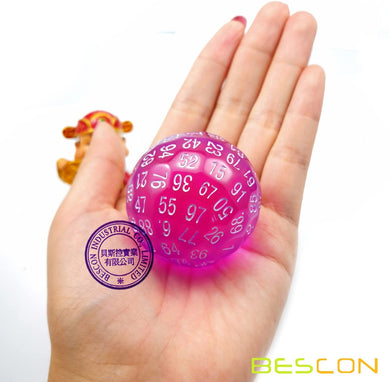 Bescon Dice: D100 (Translucent Purple)