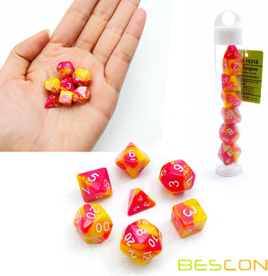Bescon Dice: Sunglow Gemini Mini Dice Set
