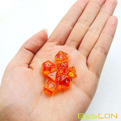 Bescon Dice: Orange Mini Dice Set
