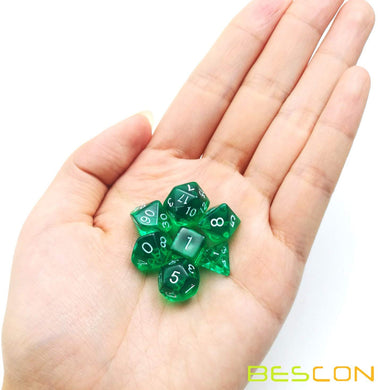 Bescon Dice: Green Mini Dice Set