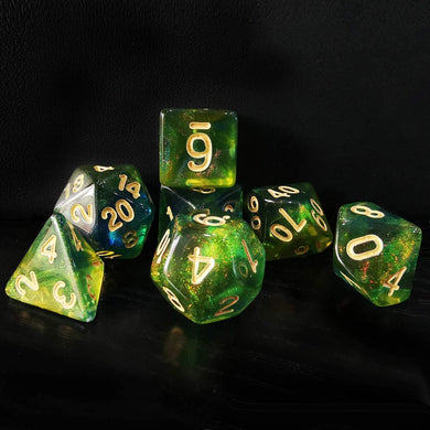 Azure Stone New Moonstone Dice Set
