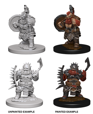 Pathfinder Deep Cuts Unpainted Miniatures Dwarf Male Barbarian