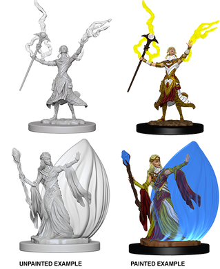 D&D Nolzurs Marvelous Unpainted Miniatures Elf Female Wizard