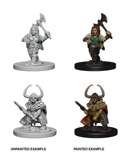 D&D Nolzurs Marvelous Unpainted Miniatures Dwarf Female Barbarian